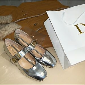 new dior Mary Jane sliver shoes 37